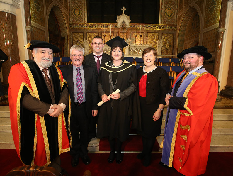 Pictured is Fiona Wickham, Enniscorthy who graduated Master of Arts in Managemant in Education. Also pictured are Paul Murphy, Brendan Wickham and Dierdre Murphy. Picture: Patrick Browne.