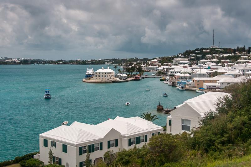 Aerial view of St. George's Island in Bermuda