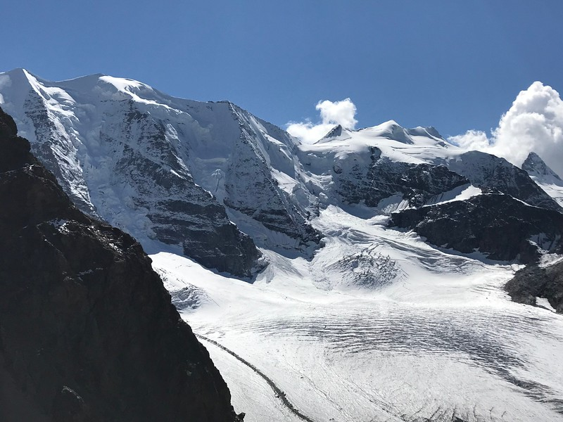 Piz Palu, Bellavista and Pers Glacier - one of the great sights of the Alps