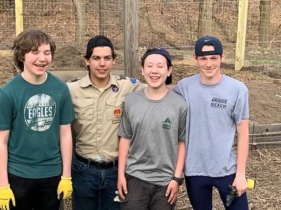 March 30, 2018 Marc Zamora Eagle Scout Project at The Montessori School