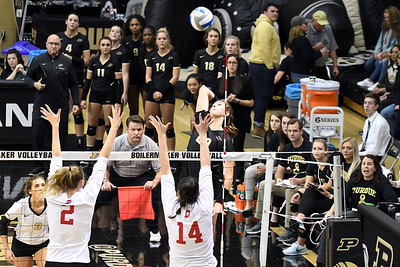 Purdue take down IU in five sets.