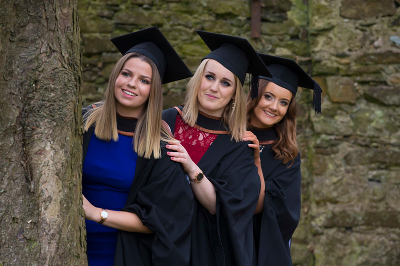 03/11/2017. Waterford Institute of Technology Conferring are Emma Swan, Screen, Meath, Jennifer Keegan, Portlaoise, Hannah Curley, Tullamore. Picture: Patrick Browne.