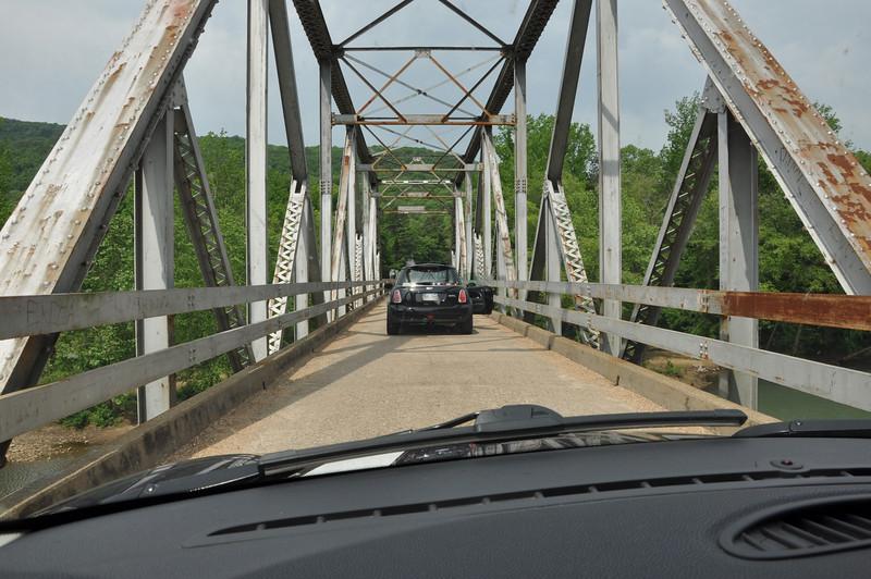 One lane bridge in Hwy 123 south of Harrison, AR.