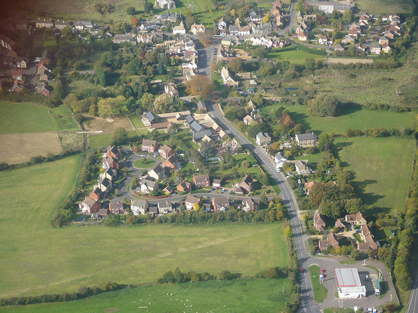 Aerial photos of Spaldwick
