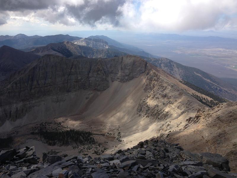View from atop Wheeler Peak