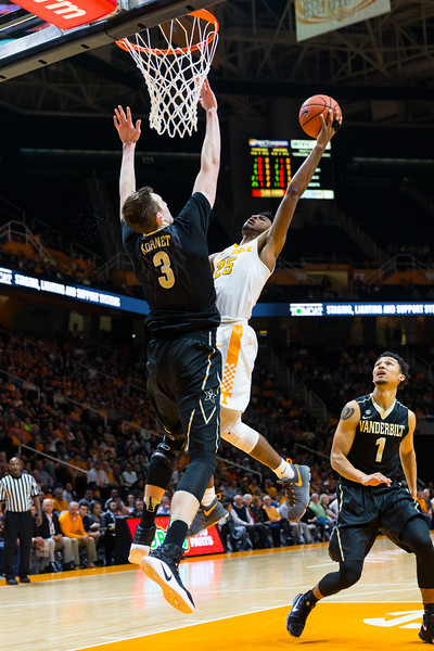 NCAA Basketball 2017: Vanderbilt vs Tennessee FEB 22