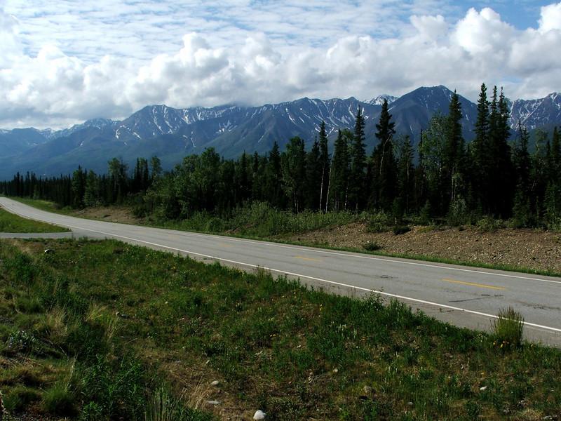 Alaska Highway between Tok and Fairbanks