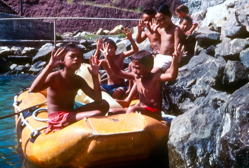 The kids loved playing in the cruiser's dinghy.