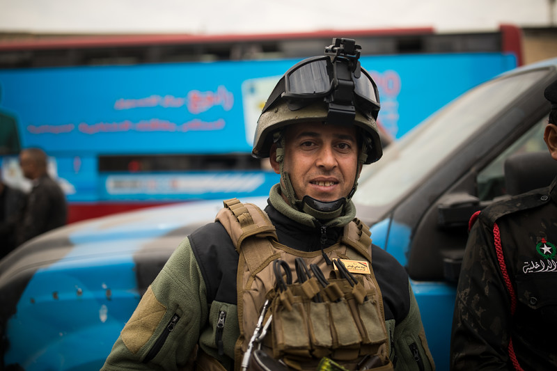 Iraqi Policeman, Central Baghdad.