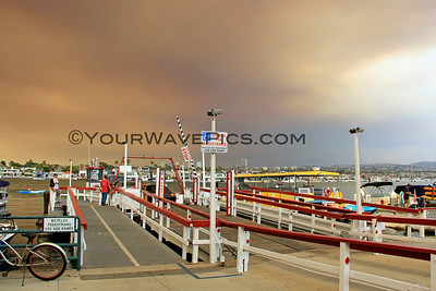 Holy Fire Smoke Over Newport 8/9/18