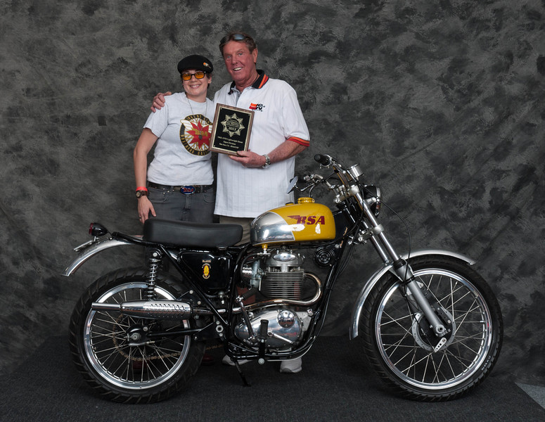 Brooke Elizarraraz, Winner of Street Lightweight Open Class 1963-1970- 1969 BSA B44VS Victor Special