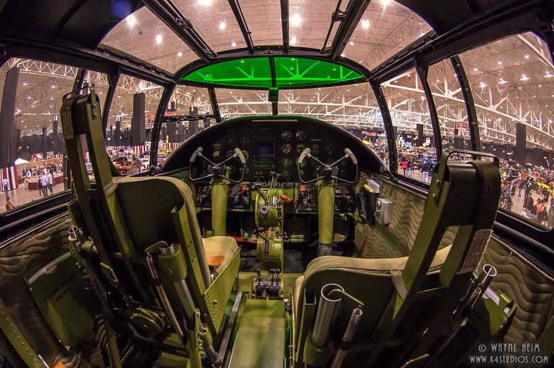 Pilot Seat of Bomber   Photography by Wayne Heim
