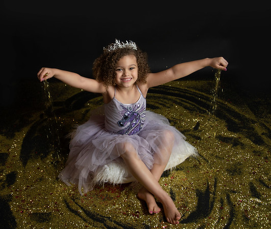 Madison's baby glitter session