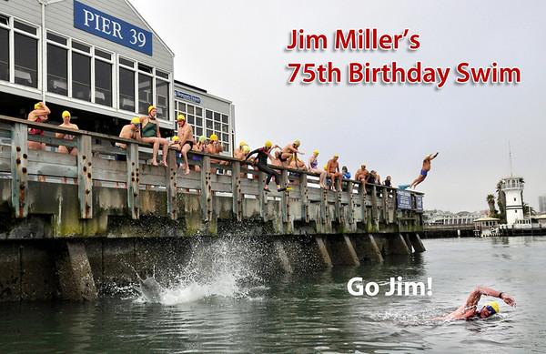 Jim Miller's 75th Birthday Swim