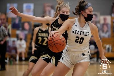 Staples Girls Basketball vs. Trumbull - February 25, 2021