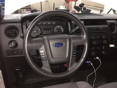Windshield and steering wheel