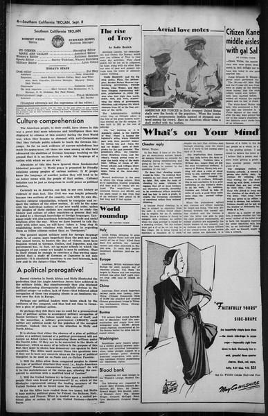 Southern California Trojan, Vol. 35, No. 29, September 08, 1943