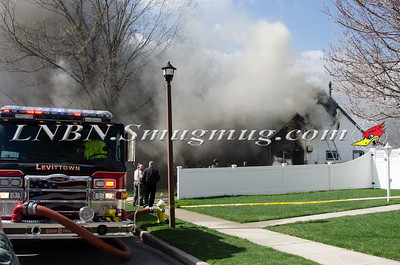 Levittown F.D. House Fire 12 Myrtle Lane 4-23-15