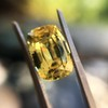 4.06ct Yellow-Chartreuse Sapphire with GIA, No-Heat 3