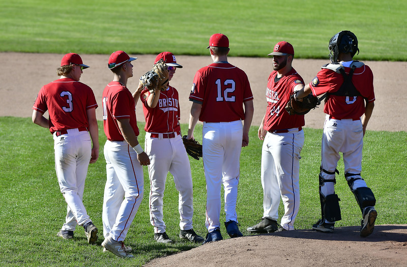 6/28/2019 Mike Orazzi | Staff The start of Friday American Legion baseball game between Bristol and Berlin at Muzzy Field in Bristol.