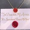 'Sa Douceur M'Attire' Carnelian Pendant, by Seal & Scribe 20