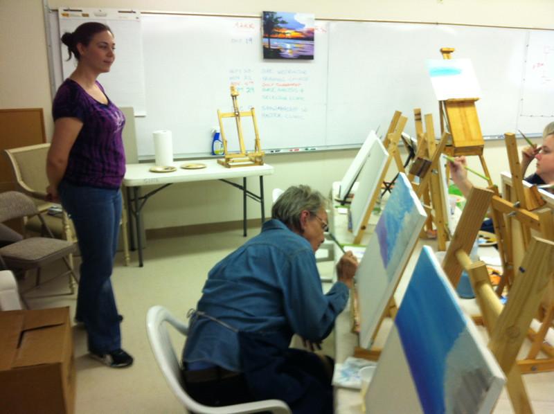 Karen working hard.JPG