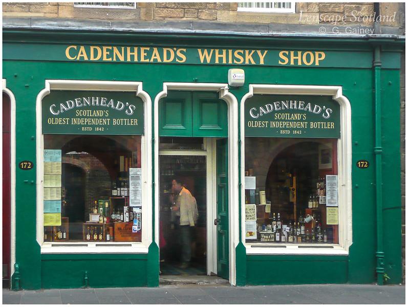 Cadenhead's Whisky Shop, Canongate, Royal Mile  (2009)