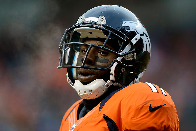 . Denver Broncos wide receiver Trindon Holliday (11) on the sidelines during the second quarter.  The Denver Broncos vs Baltimore Ravens AFC Divisional playoff game at Sports Authority Field Saturday January 12, 2013. (Photo by Hyoung Chang,/The Denver Post)
