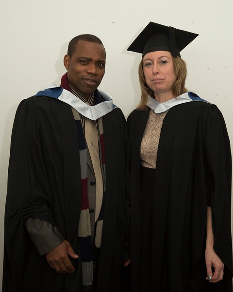 28/10/2015 Image Free to Use. Conferring at Waterford Institute of Technology. l-r; Nathaniel Ademoye from Waterford and Michelle Tubritt from Waterford Batchelor of Arts in Community Education & Development.Photo; Mary Browne