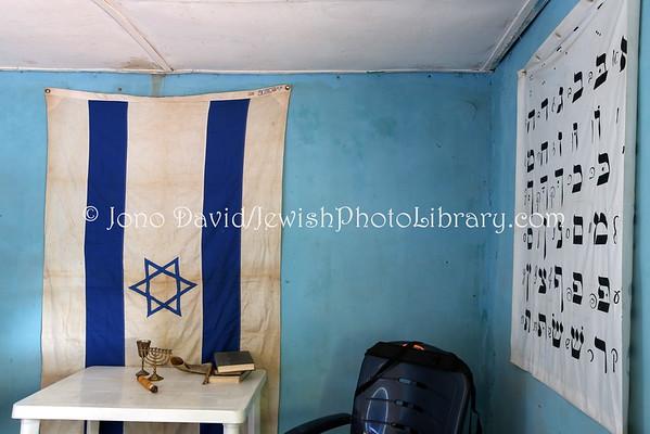 NIGERIA, Abuja, Gudaba. Beit Knesset Siyah Yisrael (8.2015)