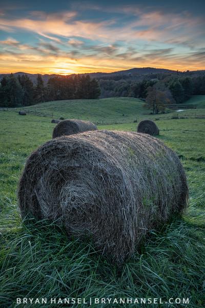 Blue Ridge Farm Sunset