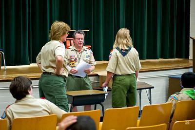 Troop Meeting, October 4, 2009