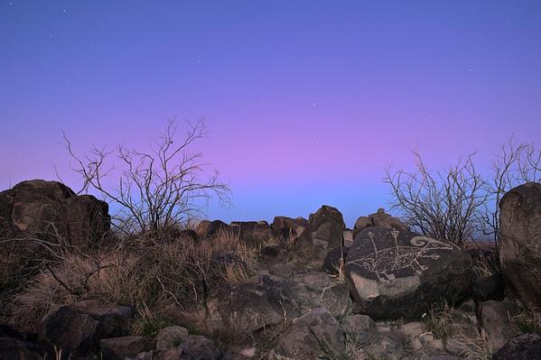 Sunrise & Petroglyph - 2 April 2012