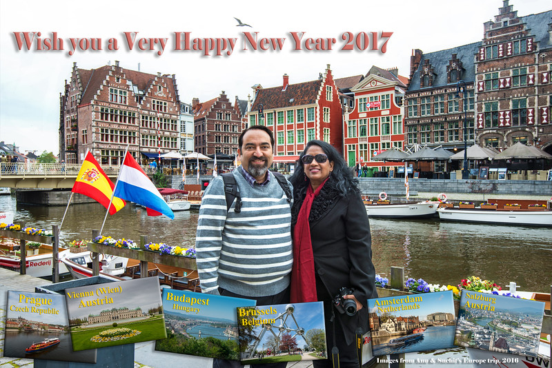Here's wishing you and your loved ones a Very Happy New Year 2017. From Anu & Suchit Nanda.
