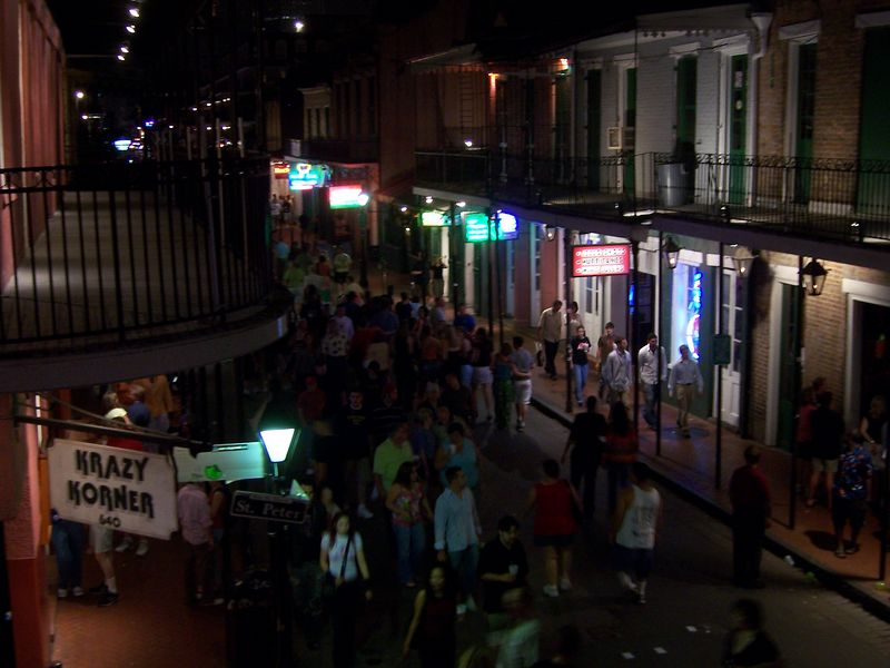 More nightlife.  This is Bourbon Street.  Mardi Gras' Ground Zero.