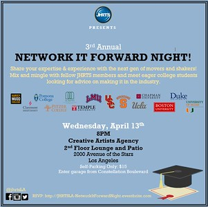 JHRTS 3rd Annual Network It Forward (4/13/16)