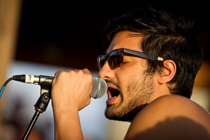 Sameer Gadhia of Young The Giant performs an acoustic set on December 3, 2011 during 97X Next Big Thing at 1-800-ASK-GARY Amphitheatre in Tampa, Florida