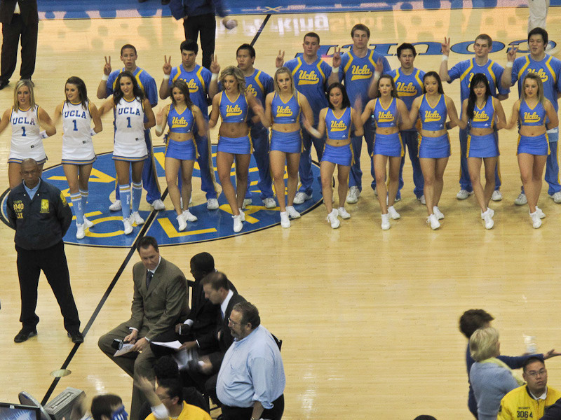 February 2 - Great UCLA  basketball victory over Trojans at revered Pauley Pavilion - GO BRUINS!