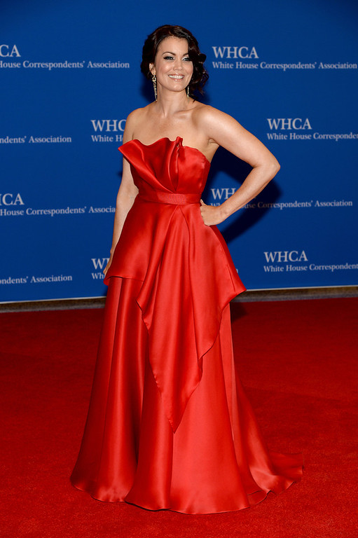 . Actress Bellamy Young attends the 100th Annual White House Correspondents\' Association Dinner at the Washington Hilton on May 3, 2014 in Washington, DC.  (Photo by Dimitrios Kambouris/Getty Images)