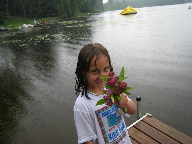 Little Rylie, wet, but still soooo cute!