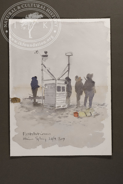 "A bear guard and the technical team maintaining the field station | 26.9.2019 | ""I want to convey what I see with immediacy and simplicity to make the viewer feel present on the Arctic scene."" 