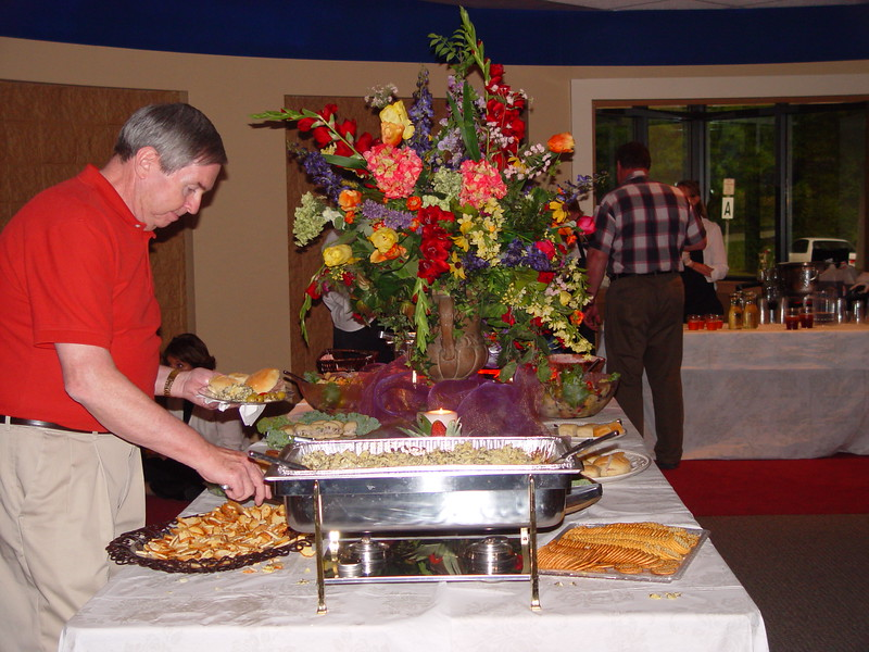 Dennis Nichols enjoying the delicious hors d'oeuvres.jpg