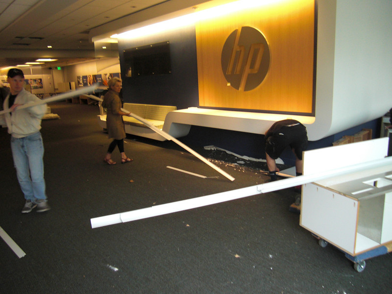 """""""Shopping"""" at the HP building."""