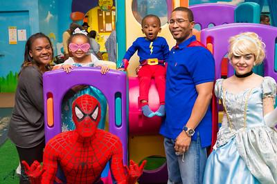 Austin & Abigail Superhero & Princess theme 3rd birthday