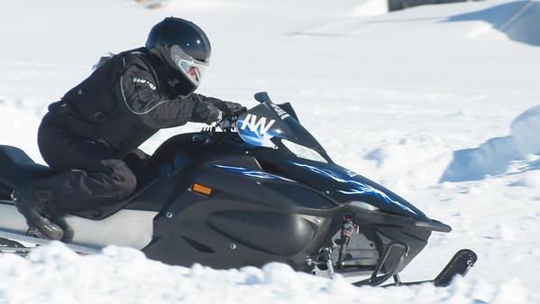 Ice racing on Sebago Lake