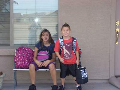Ashlea & Tyler 1st day of school 08-04-08