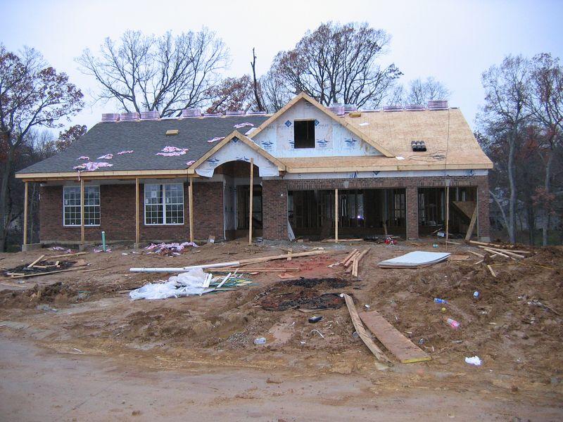 Roof Half Completed November 16