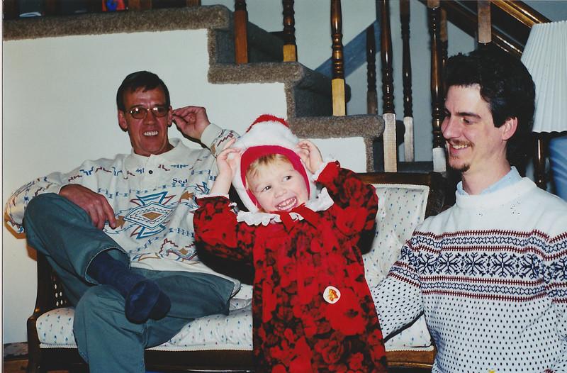 Dad, Brteanna, Dave - Xmas 1998