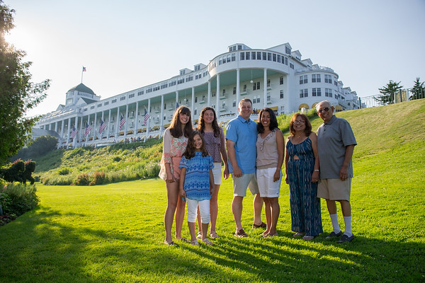 Mackinac Island family photography Grand Hotel lighthouse by Paul Retherford