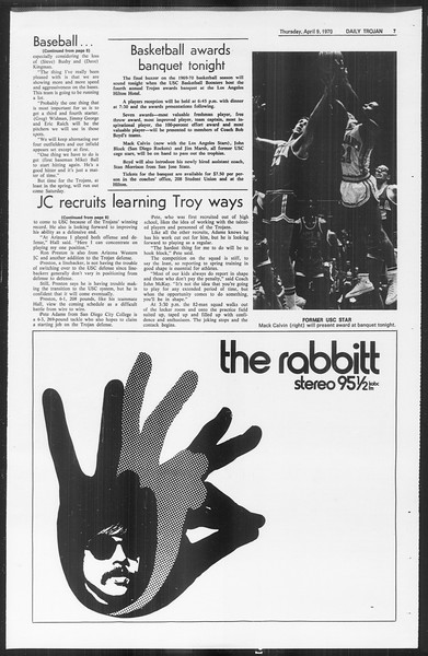 Daily Trojan, Vol. 61, No. 102, April 09, 1970
